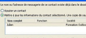 Tuto Gérer les contacts en double Outlook