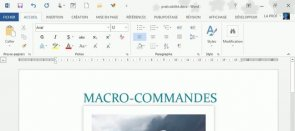 Tuto Macro-commandes -- Initiation Word