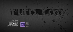 Tuto Graver un titre dans le mur After Effects
