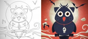 Tuto Illustration vectorielle pour Halloween à partir d'un sketch Illustrator