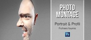 Tuto Photomontage : Le portrait profil Photoshop