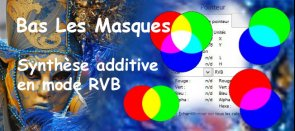 Tuto Synthése Additive en mode Rouge Vert Bleu Gimp