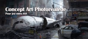 Tuto Concept Art photorealiste pour un jeu video AAA Photoshop
