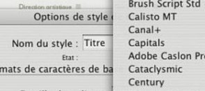 Tuto Les styles Indesign