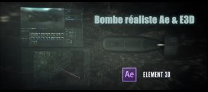 Tuto Chute de bombe réaliste : After Effects & Element 3D After Effects
