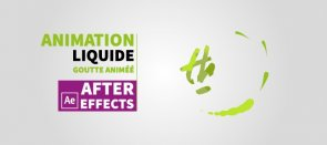 Tuto After Effects : Animation liquide de goutte et logo ! After Effects