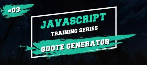 Tuto Javascript Training Series : Générateur de citations JavaScript