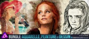 Tuto Bundle artistique Affinity Photo : Aquarelle, peinture relief et Dessin Affinity Photo