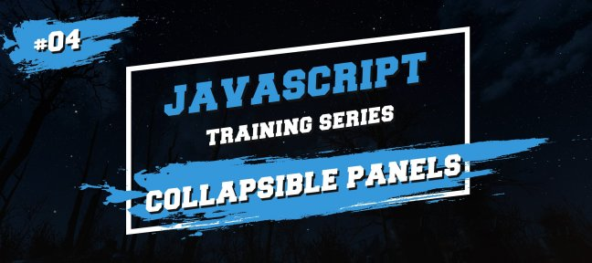 Javascript Training Series : Collapsible panels