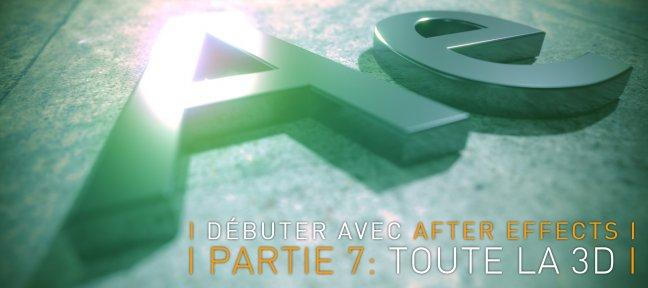 Débuter avec After Effects CC 2018, partie 7