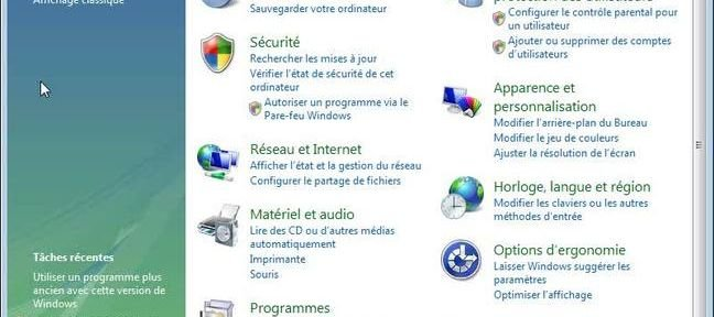 Installer les options et les pilotes