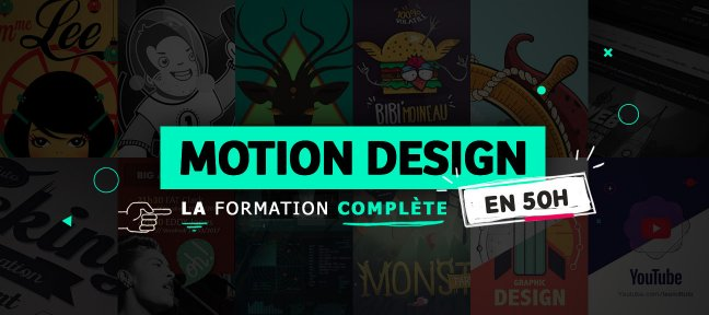 Tuto Motion Design : la formation complète After Effects