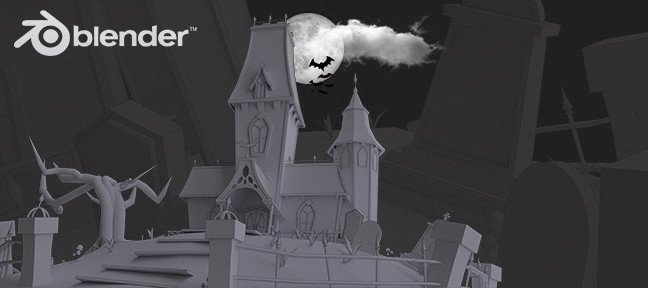 Tuto Blender : Modéliser une maison cartoon Halloween Blender