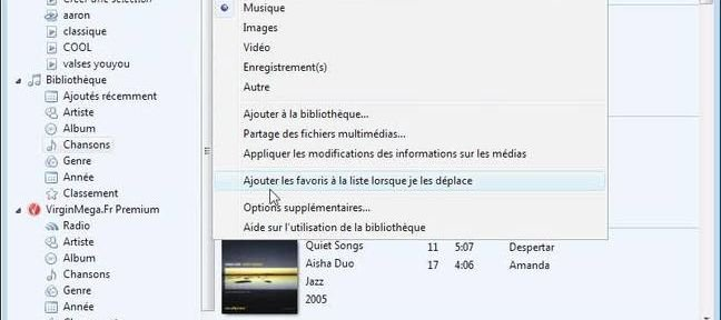 Options de Media Player