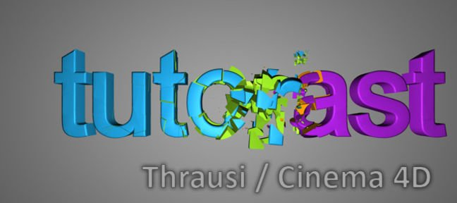 Tuto Thrausi et Mograph pour une Transition destruction 3D Cinema 4D