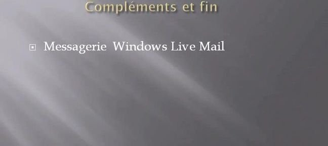 Messagerie Windows live Mail