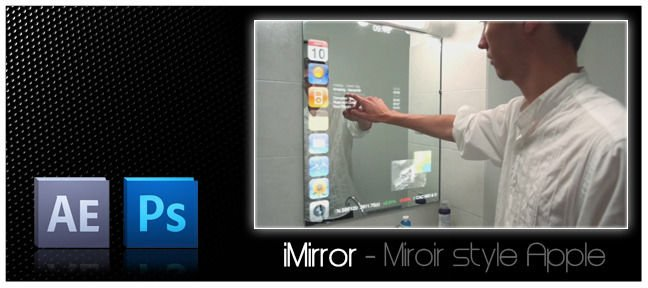 Tuto imirror miroir interactif fa on iphone avec for Outil miroir photoshop