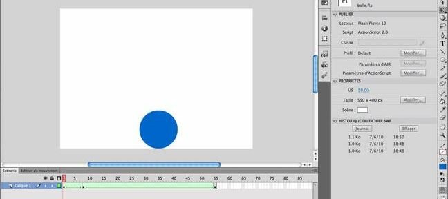 Tuto Les bases de la publication d'une animation Flash