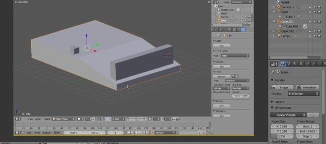 Interface Blender : DRAG AND DROP
