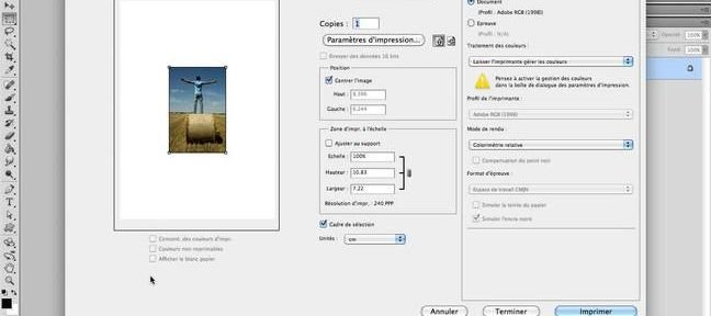 Tuto Imprimer un document Photoshop