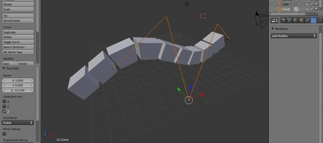 Tuto Blender utiliser ARRAY et CURVE Blender