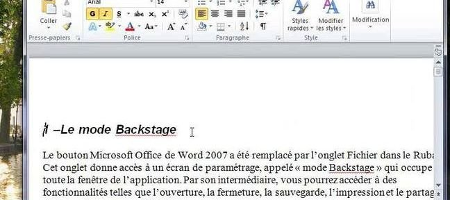 Tuto Partage de documents Word