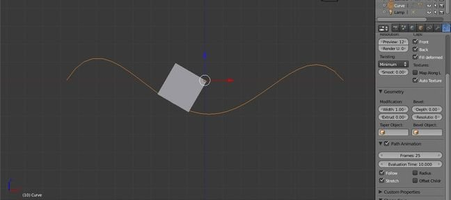 Tuto Blender Follow Path Blender