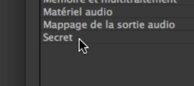 MODE SECRET Forcer les exports !
