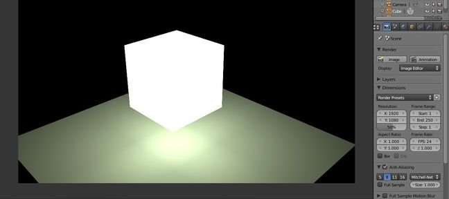 Tuto Blender Indirect Lighting Blender