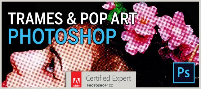 Tuto Trames & Pop Art dans Photoshop Photoshop