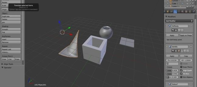 Tuto Blender Modifier SOLIDIFY Blender