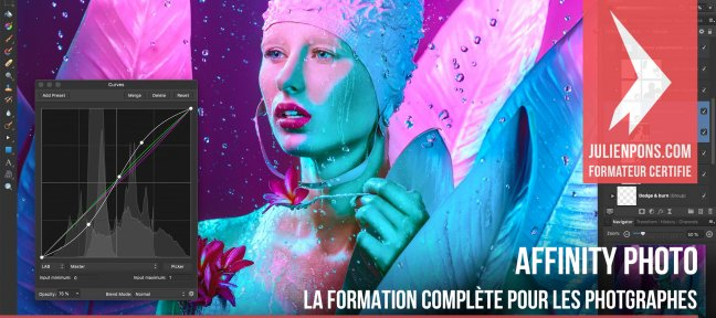 Video Tutorial Affinity Photo - La formation complète pour les photographes Affinity Photo