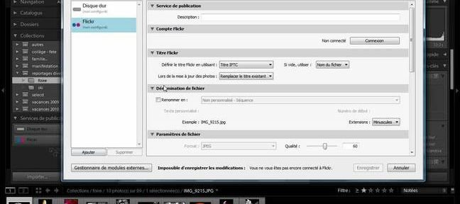 Tuto Utiliser le service de publication flickr ! Lightroom