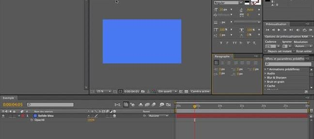 Tuto Texte et Paragraphe After Effects