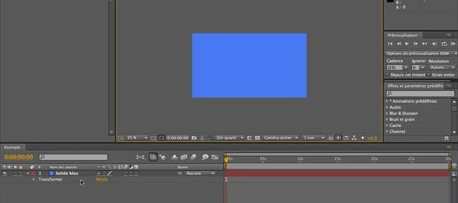 Tuto Principe des calques After Effects