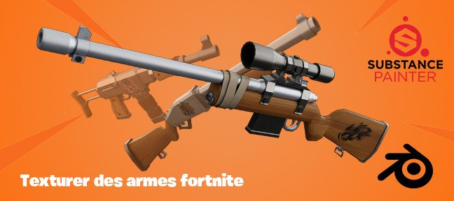Tuto Blender : Texturer des armes Fortnite Blender
