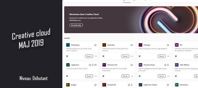 La nouvelle app Creative Cloud