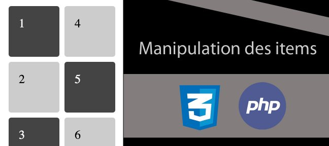Tuto Manipulation des items CSS