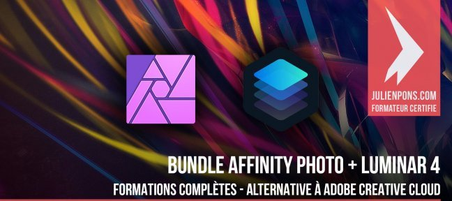 Tuto Bundle : Luminar + Affinity Photo - L'alternative à Adobe Creative Cloud Affinity Photo
