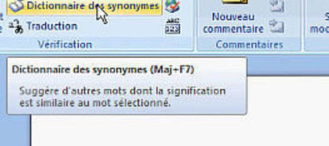 Tuto Le dictionnaire de synonymes Word