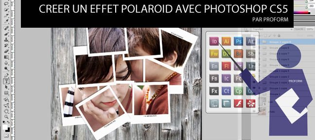 Tuto Création d'un montage photo polaroid Photoshop