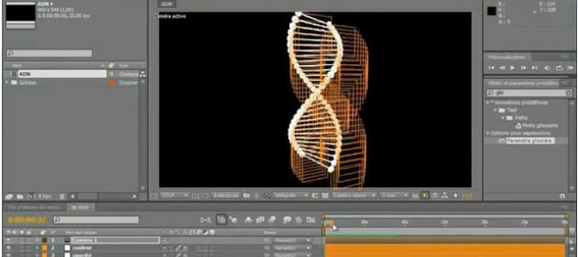 ADN 3D dynamique avec After Effects