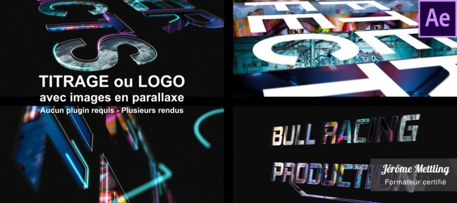 Tuto Titrage ou logo avec images en parallaxe After Effects