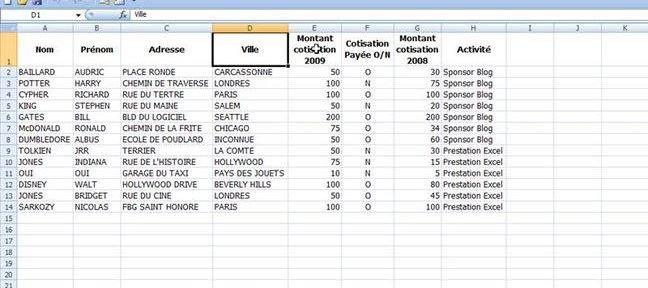 tableau croisé dynamique  TUTO Tableau croisé dynamique avec Excel 2007 sur Tuto.com
