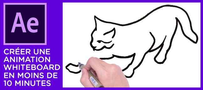 Tuto Créer une animation whiteboard en moins de 10 minutes After Effects