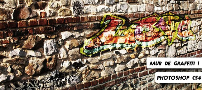 Tuto Incruster un graffiti dans un mur Photoshop