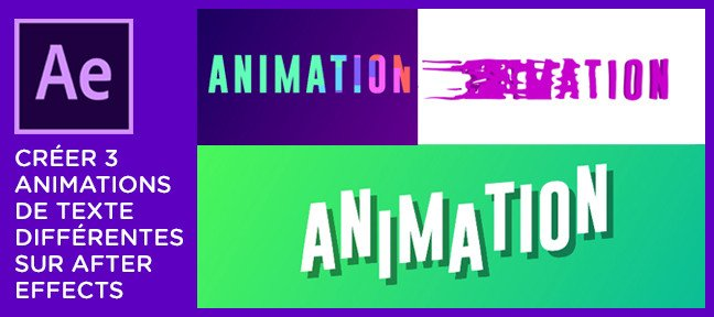 Tuto Créer 3 animations de texte différentes sur After Effects After Effects
