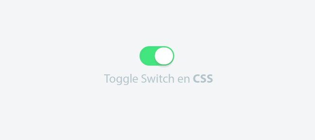 Tuto Créer un Toggle Switch en CSS CSS