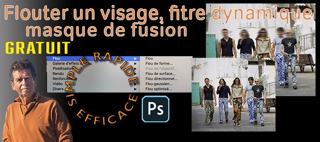 Tuto Gratuit Photoshop : Comment flouter un visage Photoshop