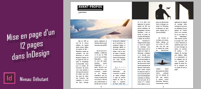 Tuto InDesign CC - Mise en page d'une brochure 12 pages InDesign